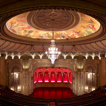Orpheum auditorium from upper balcony