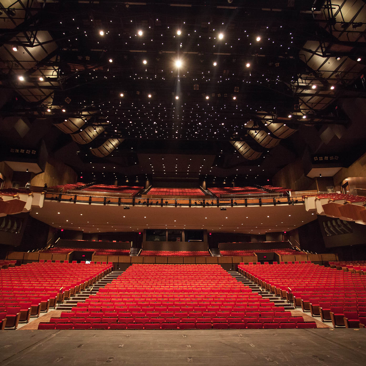 Queen Elizabeth Theatre auditorium from the stage