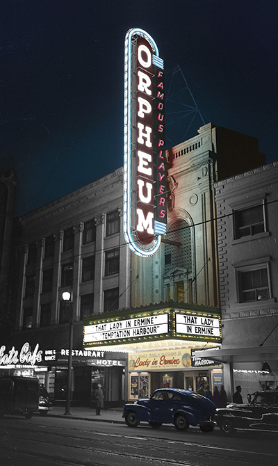 Orpheum sign from historical photo bank