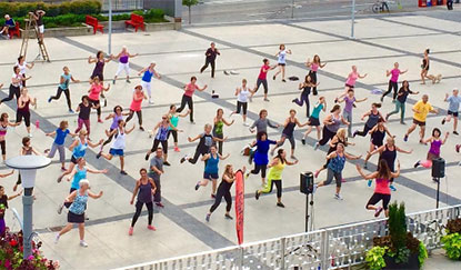Zumba on the Plaza at the Civic Theatres