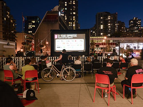 Film night in the Plaza